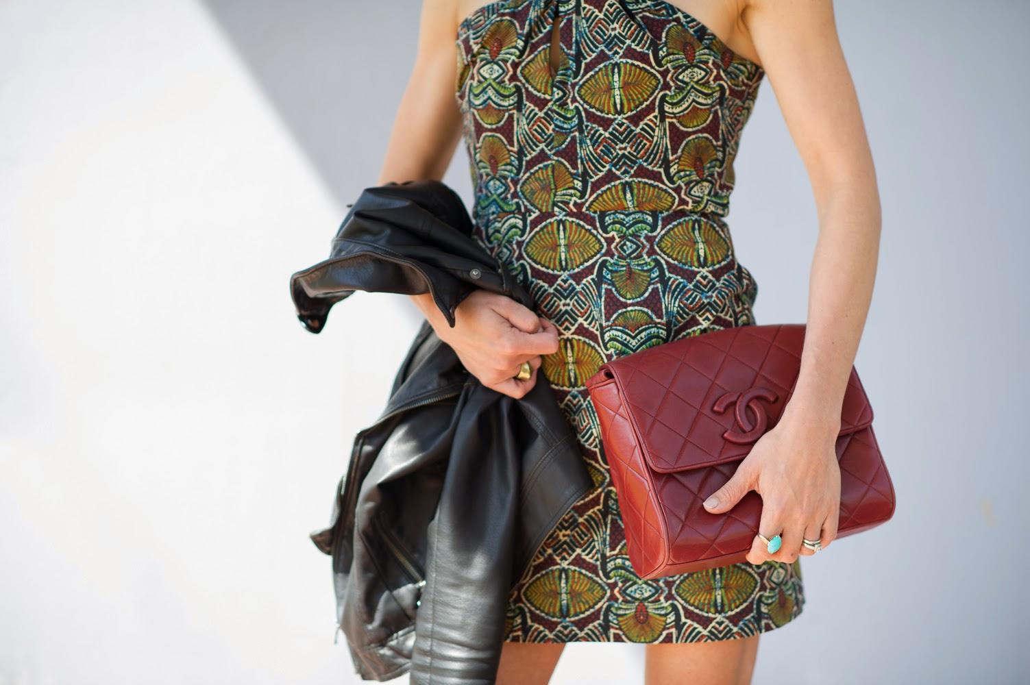 bdca813047cf dress / sandal / lips / jacket / vintage Chanel c/o Rice and Beans Vintage