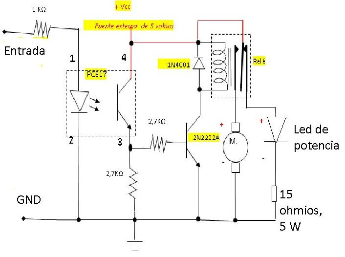 Circuito Optoacoplador : Digitales profe chucho salida optoacoplada