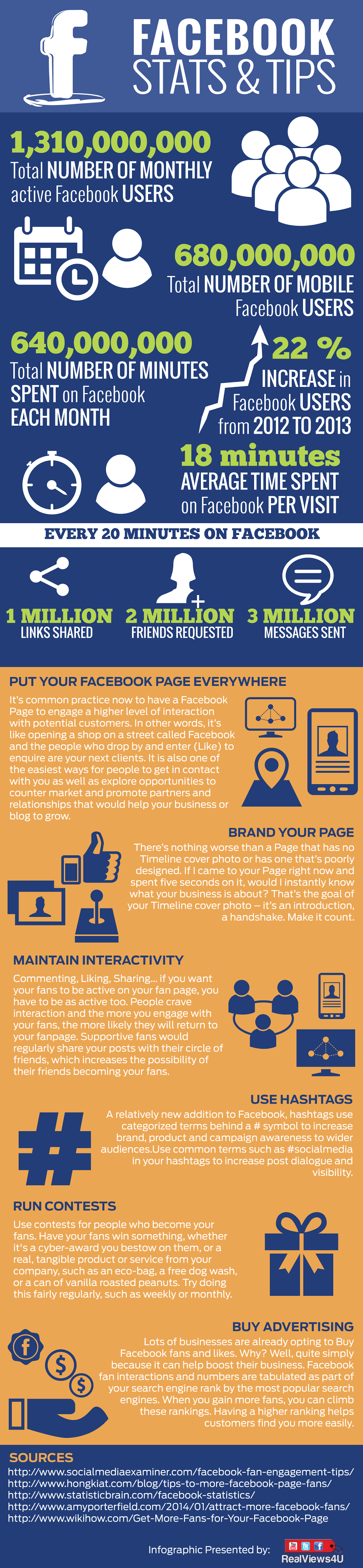 #Facebook Stats And Tip For Businesses - #infographic #socialmedia