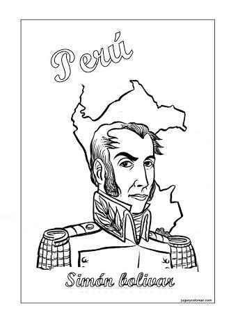 Simón Bolívar Dictador del Perú para colorear