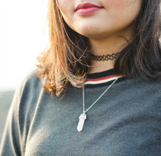 Grunge bullet necklace