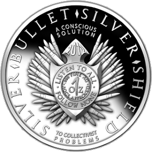 Silver Bullet Silver Shield 1 ounce Silver Coin