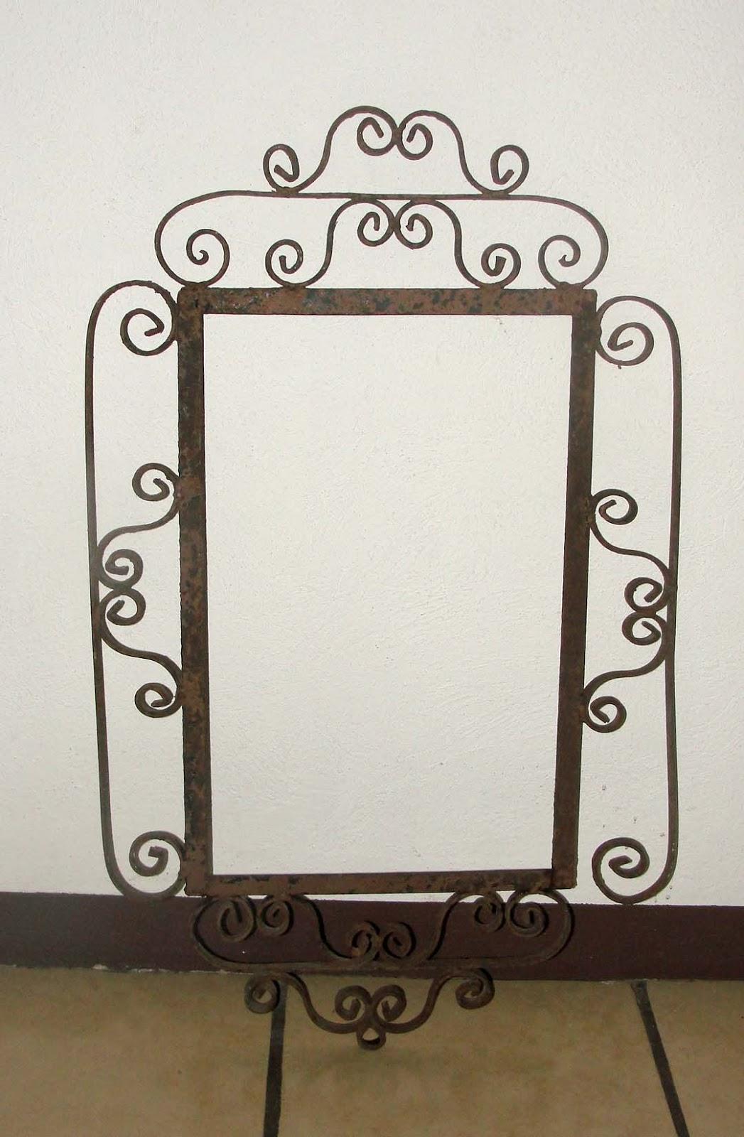 Desde jalisco bazar antiguo marco de hierro forjado para for Espejos de pared con marco