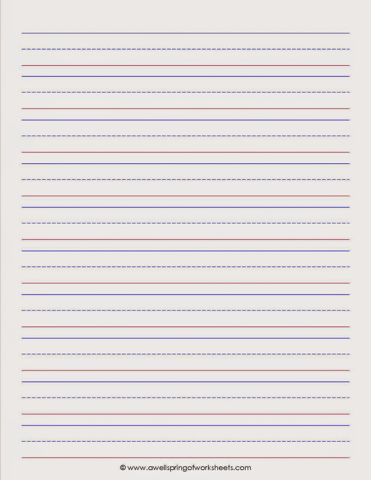 handwriting lined paper for kindergarten and 1st grade by carrie