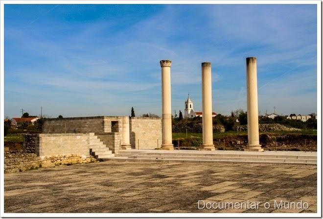 Forum; Ruínas de Conímbriga; Vestígios romanos em Portugal; romanização em Portugal