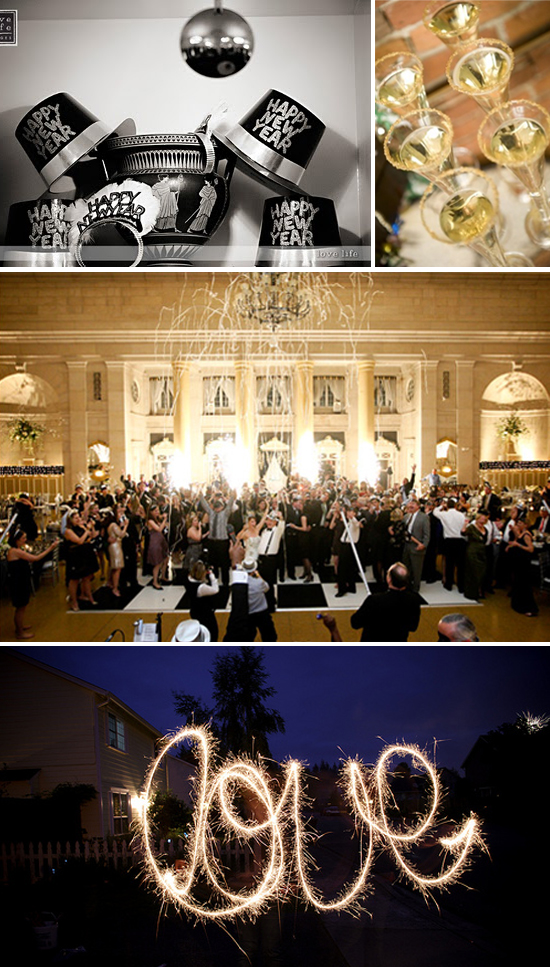 New Year's Eve Gold and Glitter Wedding Inspiration Board Part 3
