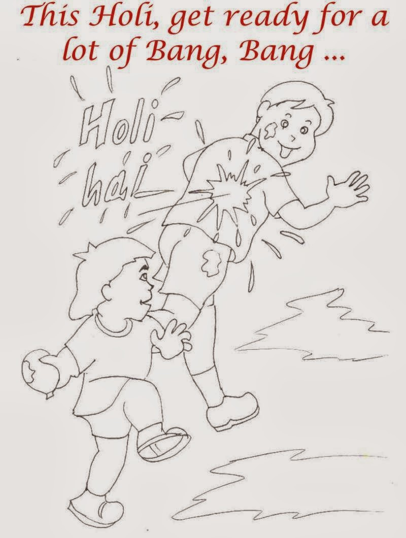 Colouring pages holi - Happy Holi Coloring Pa