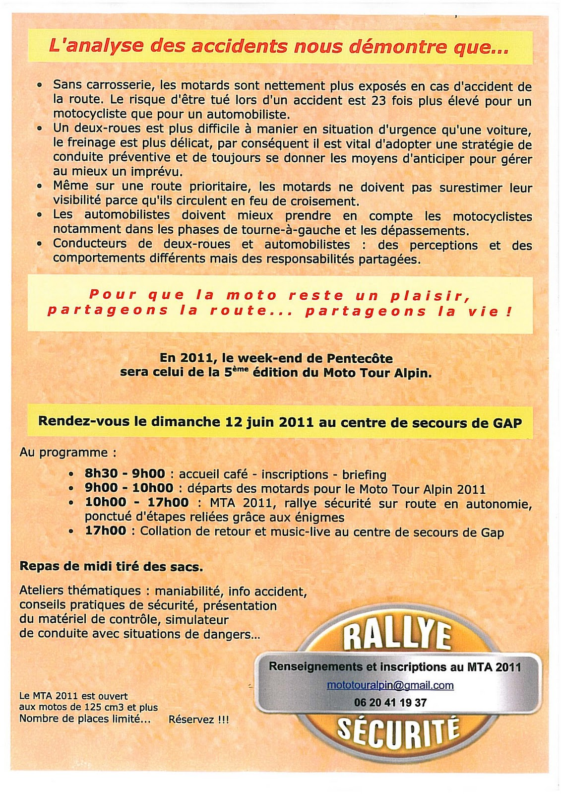 Hautes alpes info moto - Inscription 12 coups de midi numero de telephone ...