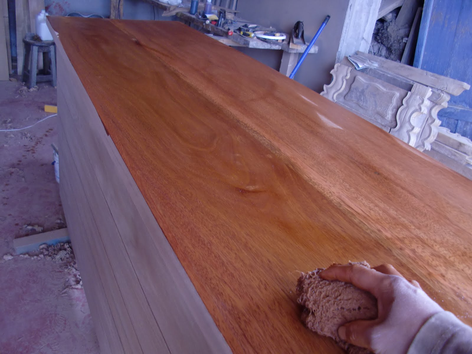 Decoraciones manualidades en madera pintar mueble paso a paso - Muebles pino para pintar ...