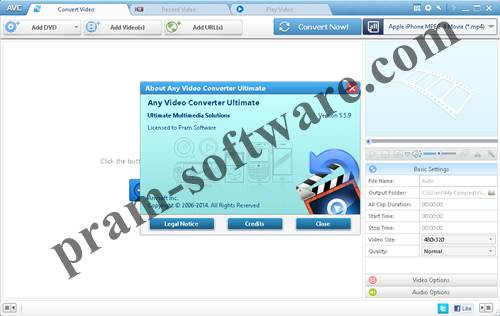 ScreenShot Any Video Converter Ultimate