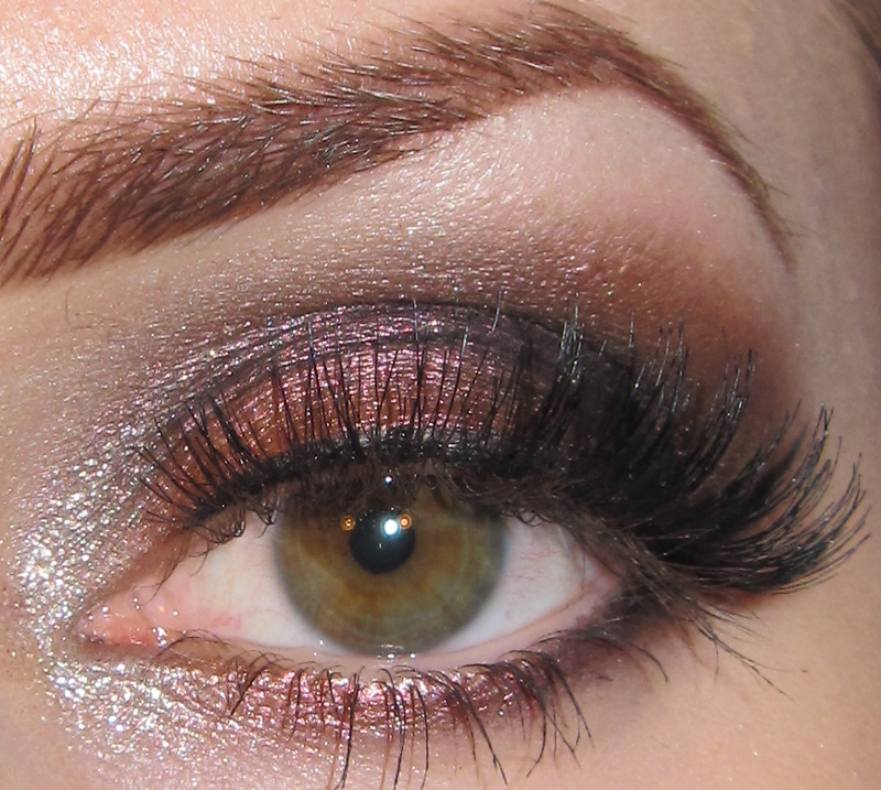 Glitter Is My Crack Dramatic Dark Copper Eye Makeup Look With