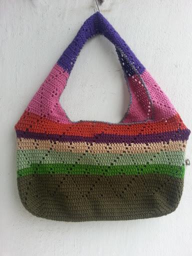 La ventana azul: 87.- Bolsa a crochet para la compra ... - photo#33