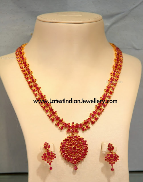 Ruby Long Necklace Set