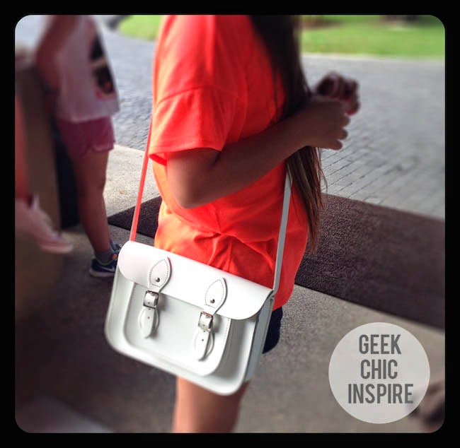 White Leather Satchel