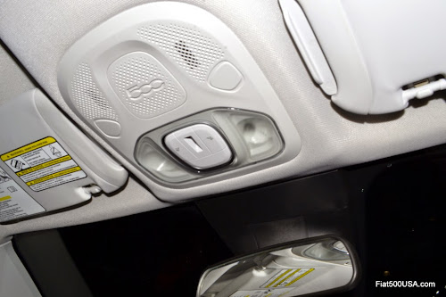 Fiat 500X Front Courtesy and Reading Lights