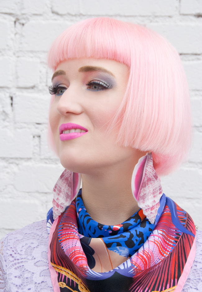 Cléo Ferin Mercury, Nautical Look, pink mermaid hair