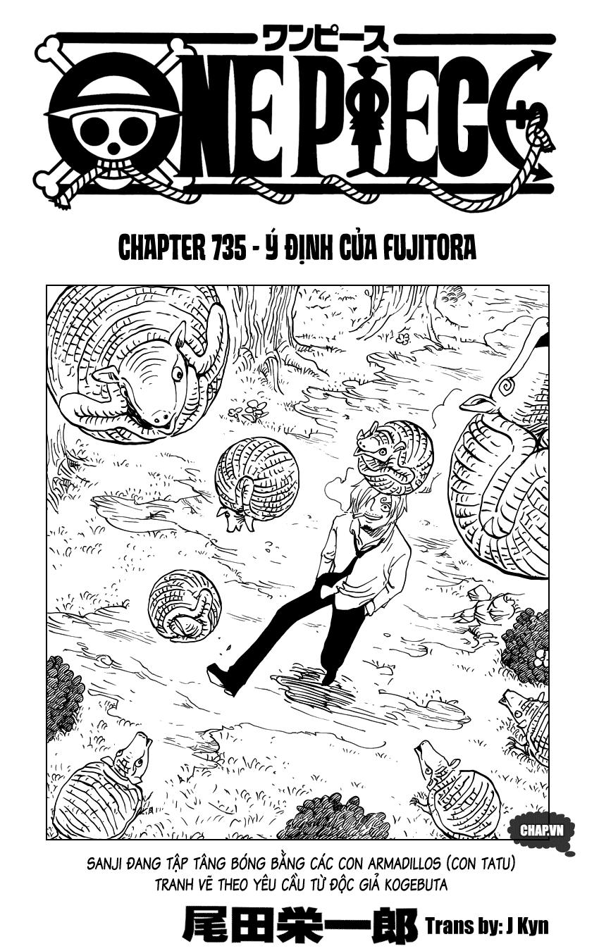 One Piece Chapter 735: Ý định của Fujitora 001
