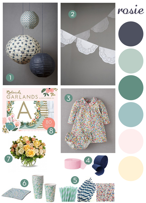 Mini Boden Pretty Jersey Dress in Multi Summer Floral // 4. Amazon Navy and pink streamers // 5. Etsy JazzyAppleGal Paper Straws // 6. Ikea paper plates and ...  sc 1 st  Rosebud u0026 Penny & Rosebud u0026 Penny: A Vintage Floral Party For Rosie