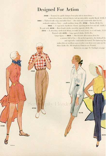 Designed for Action, Simplicity Summer 1952, Madison Avenue Monday, Serendipity Handmade
