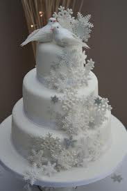 Winter Snowflake Wedding Cake Pictures