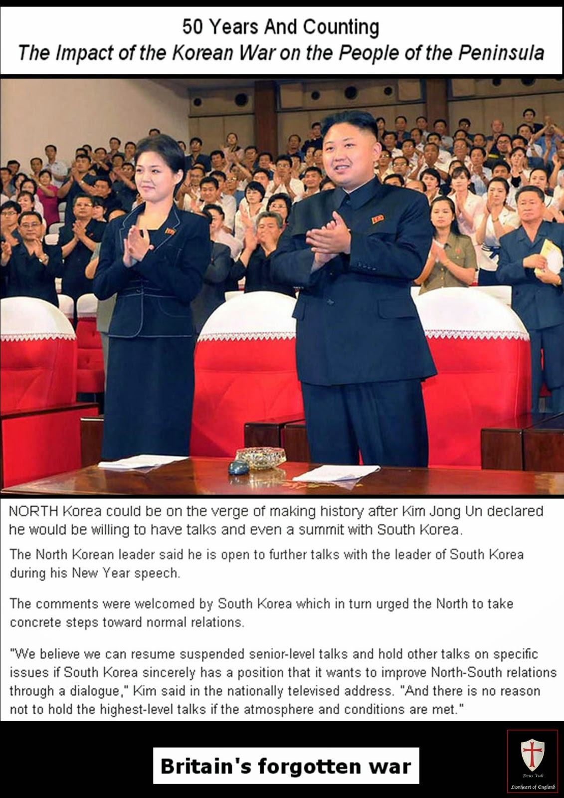 the war and peace negotiations between north and south korea From brink of war to hopes of peace: kim jong un heads south for summit  in a  meeting heavy with history and symbolism, north korean leader kim  lead to  the signing of a peace treaty between the north and the south,.