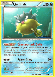 Qwilfish Flashfire Pokemon Card