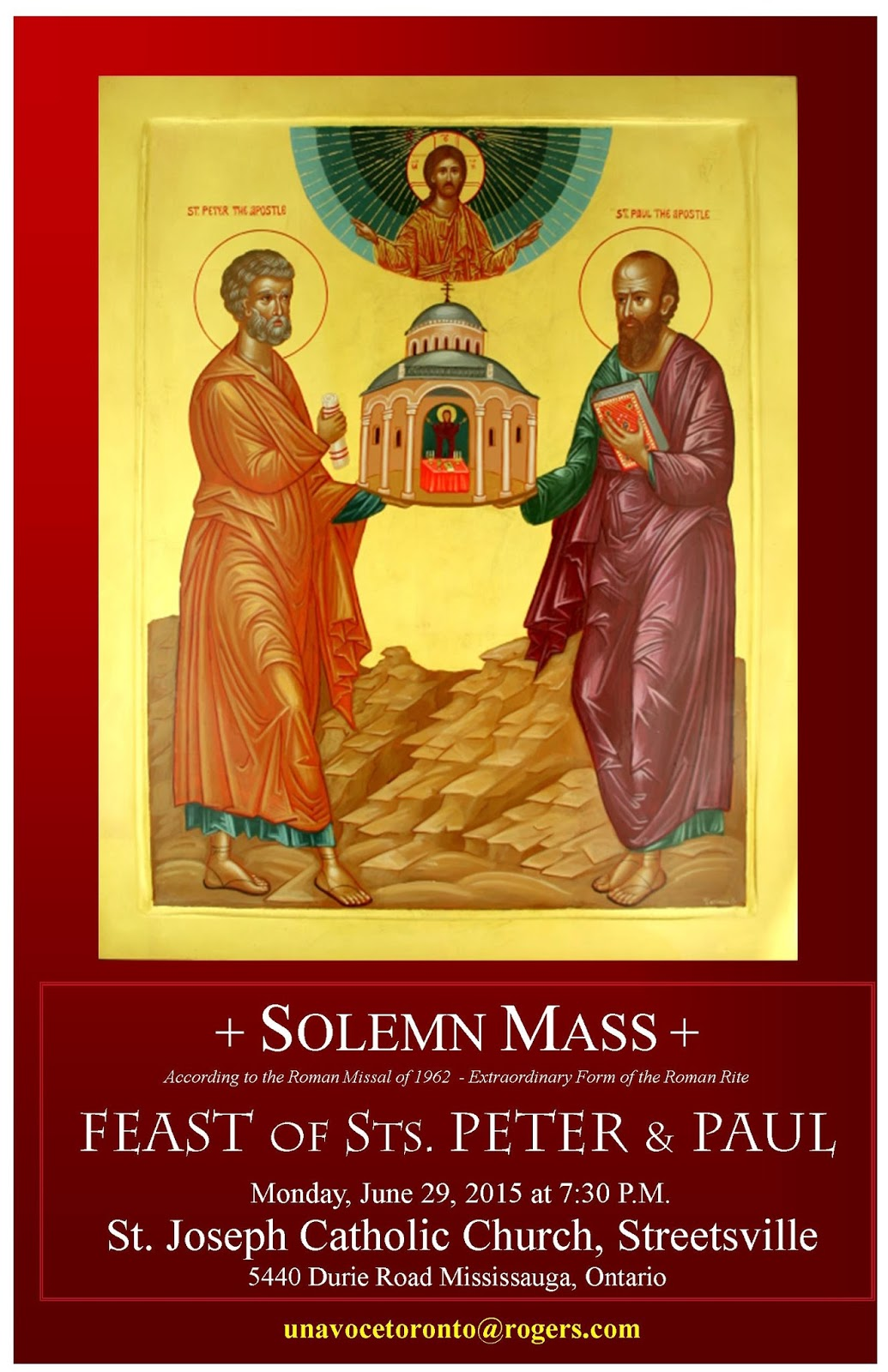 Toronto Traditional Mass Society Solemn Mass For Sts Peter