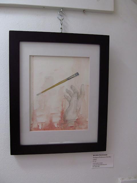 malinda prudhomme, staircase showcase, aboveground art supplies, ocad, ago, mixed media artist