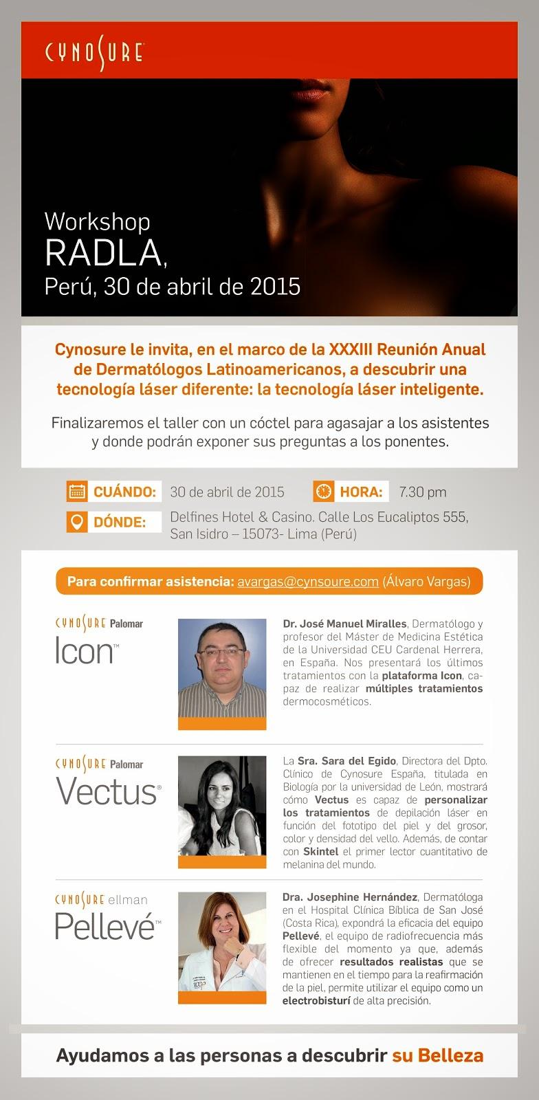 RADLA-2015-dermatologia-Miralles-Sara-del-Egido-Cynosure-Spain