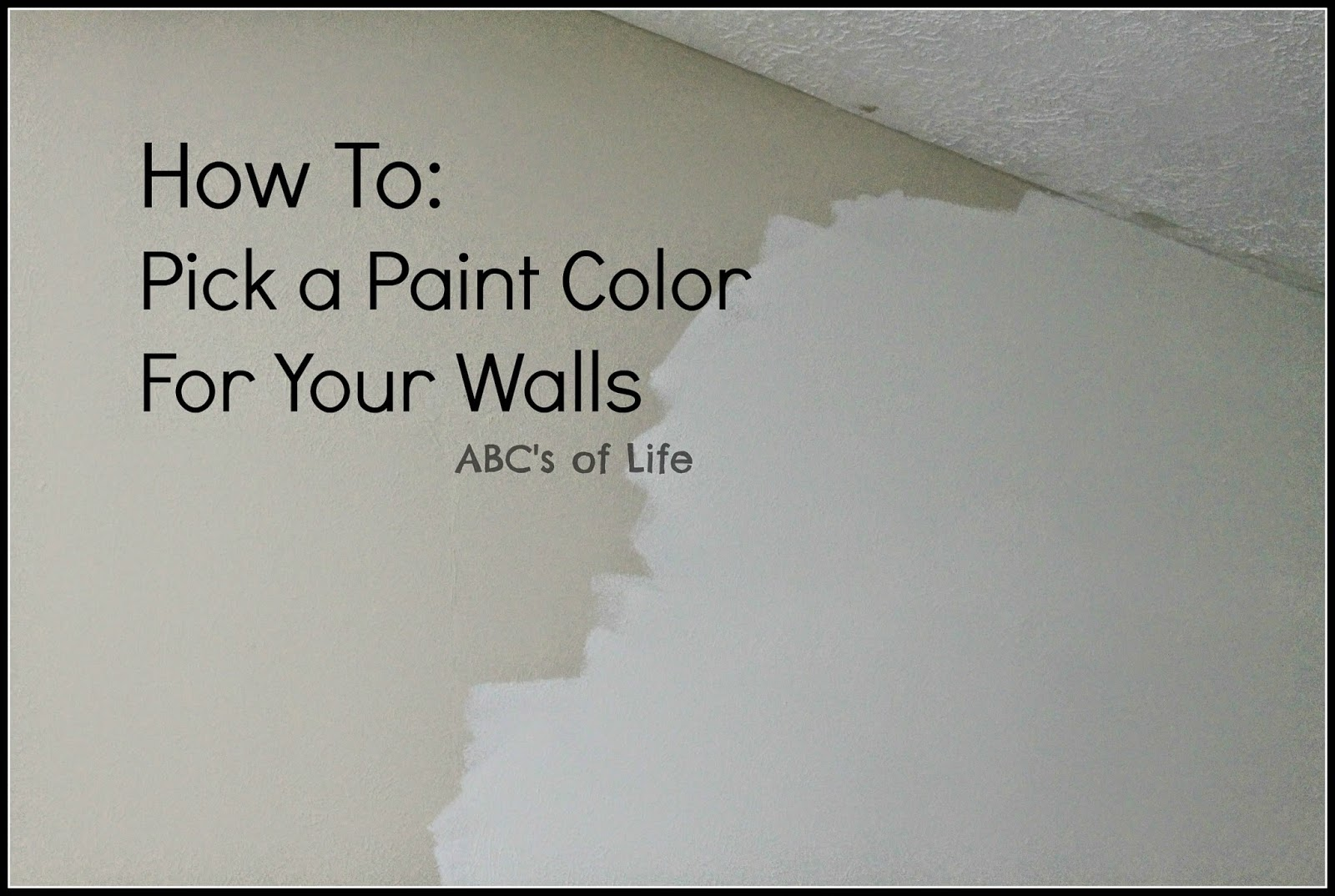 How to pick wall paint color ashley nicole designs for How to pick paint colors