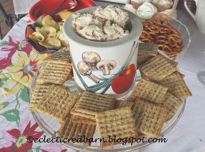 Eclectic Red Barn: Tuna Spread with crackers