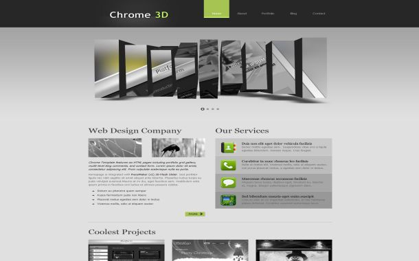image gallery html css. Free CSS Grunge Chrome Portfolio Business Gallery Black Gray HTML Web 2.0