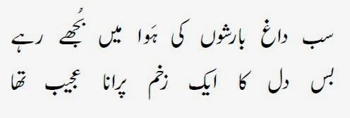 Rain SMS Shayari In Urdu