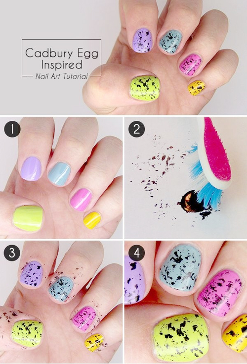 Toothbrush splatter nail art design entertainment news photos toothbrush splatter nail art design prinsesfo Image collections