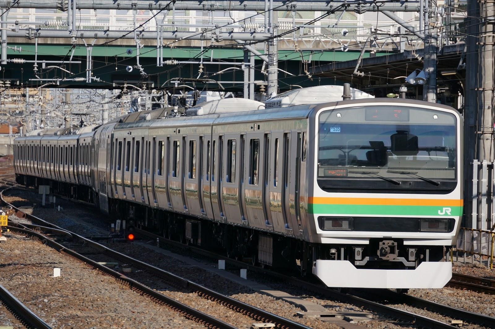 大宮駅に入線するE231系1000番台