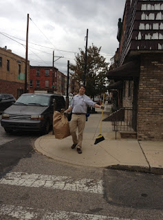 Bill Lutz supports PSCA fall clean up day