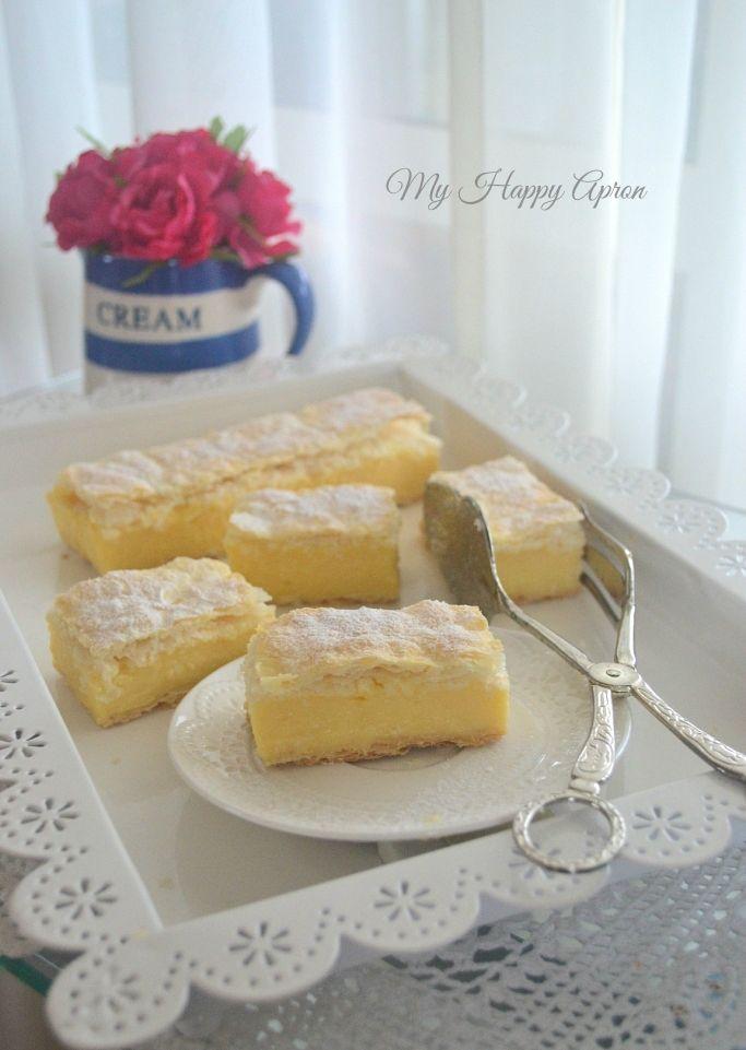 how to make vanilla slice custard