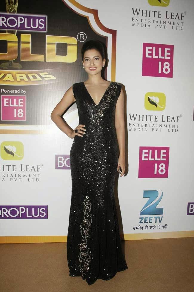 Gauhar Khand at 7th Zee Gold Awards 2014