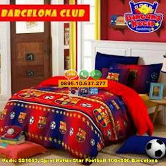 Harga Sprei Katun Star Football 100×200 Barcelona Jual