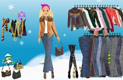 barbie moda ropa invierno juego vestir