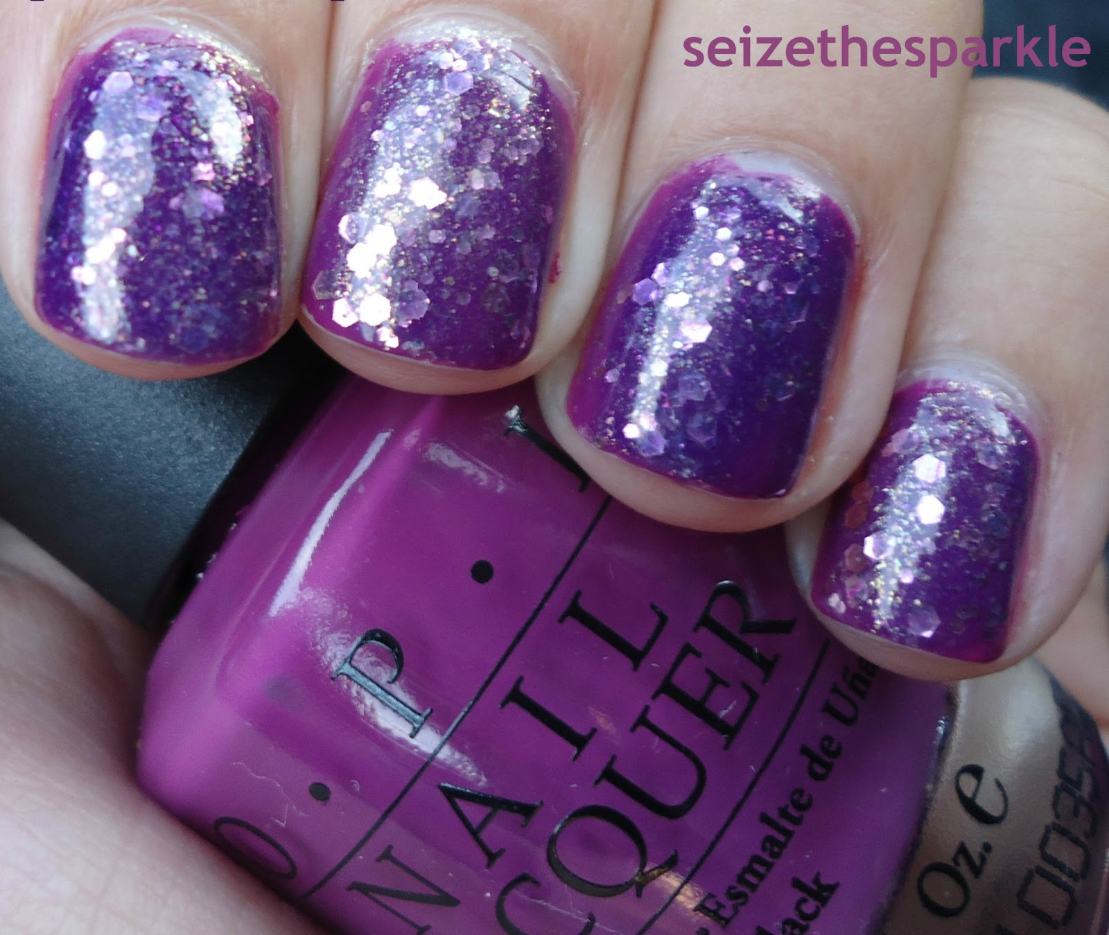 Pamplona Purple Jelly Glitter Sandwich