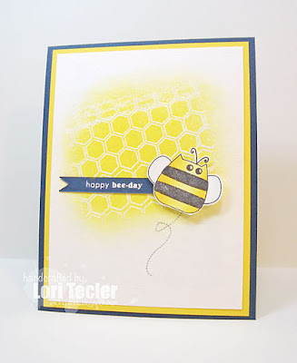 Happy Bee-Day card-designed by Lori Tecler/Inking Aloud-stamps and dies from Clear and Simple Stamps