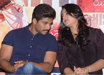 Anushka Shetty Allu Arjun at Rudramadevi Success Meet