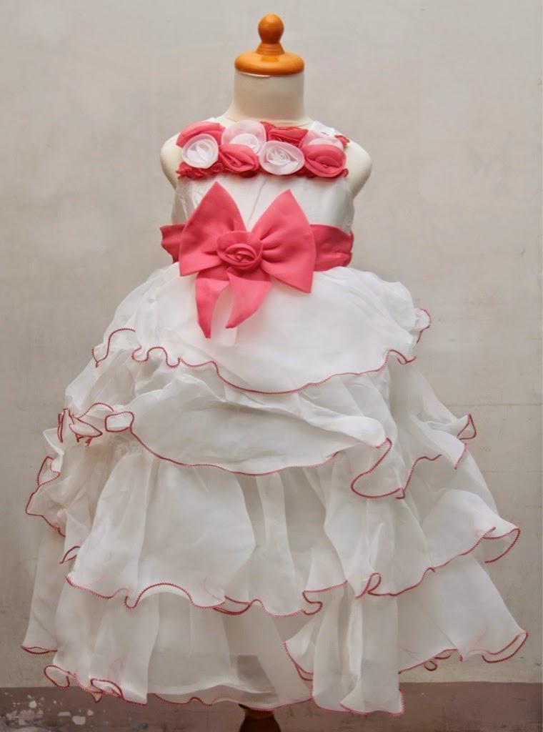 desain gaun pesta anak perempuan 2014