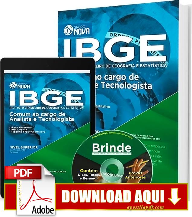 Apostila IBGE Analista e Tecnologista PDF Download Grátis