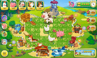 Screenshots of the Jolly Days Farm for Android tablet, phone.