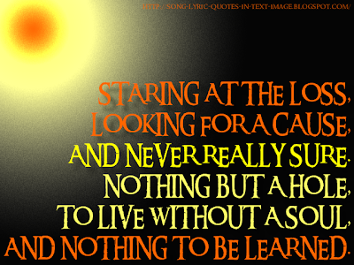 Shadow Of The Sun - Audioslave Song Lyric Quote in Text Image