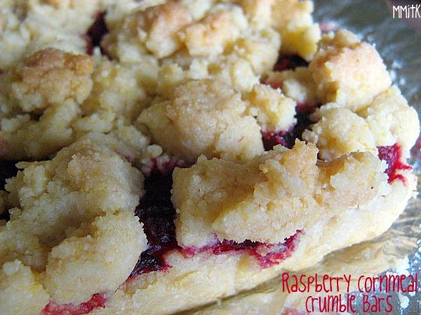 Raspberry Cornmeal Crumble Bars