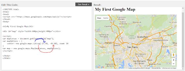 Código e mapa