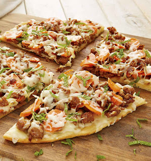 Carrot Agrodolce Sausage Pizza
